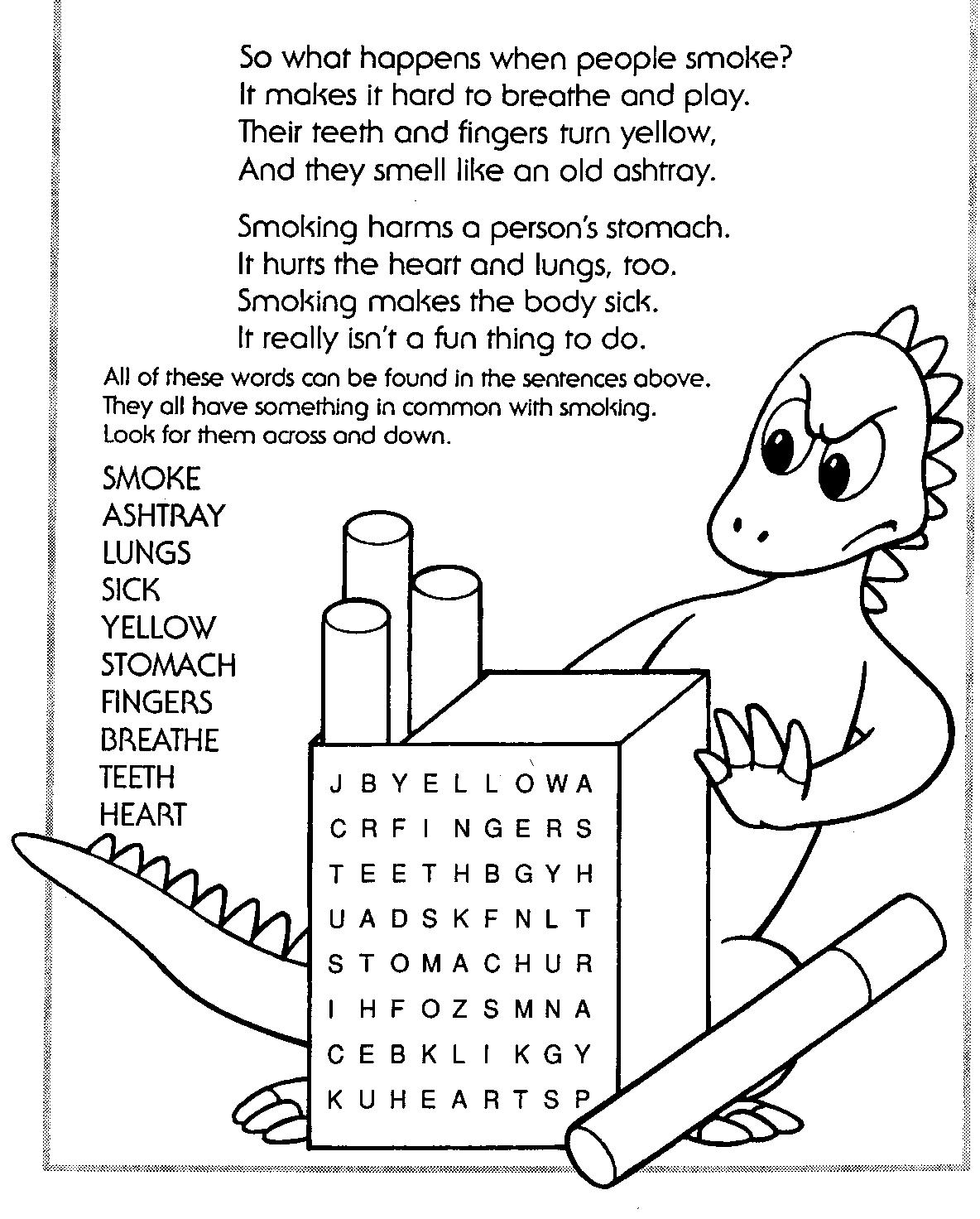 coloring pages anti smoking - photo#35