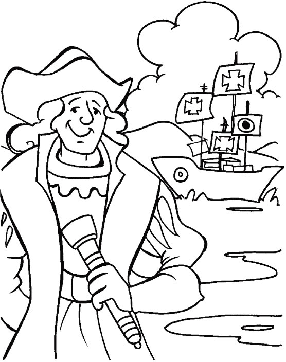 Christopher columbus coloring pages only coloring pages for Christopher columbus coloring pages printable