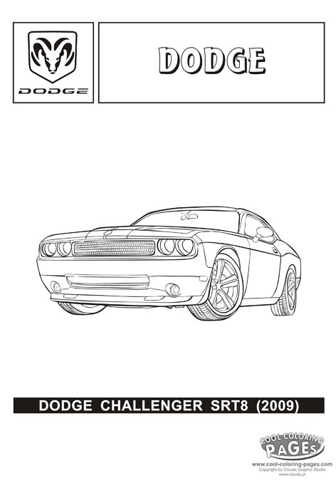 Dodge Challenger Coloring Page 06