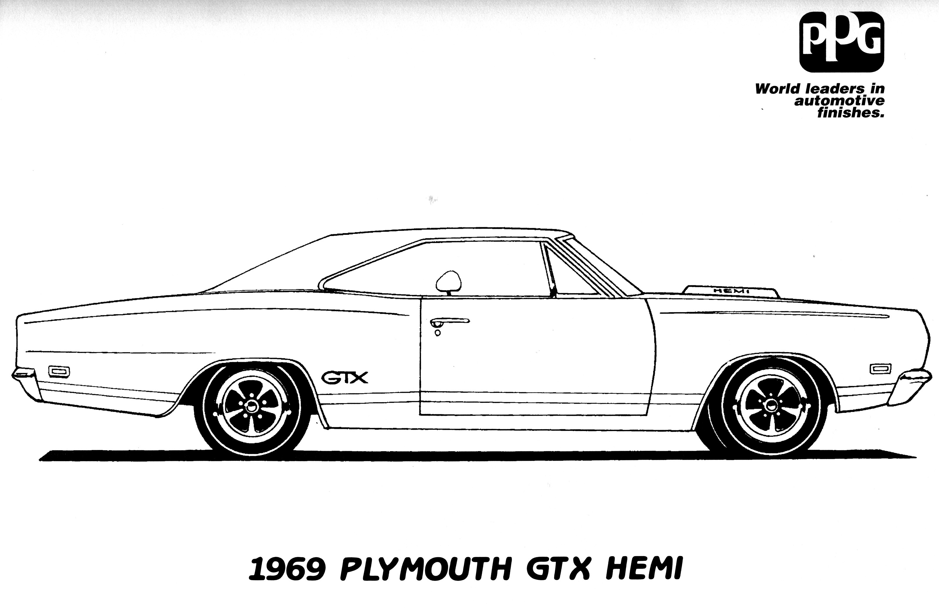 Challenger Car Coloring Pages : Dodge challenger coloring page only pages