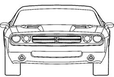 Dodge Challenger Coloring Page 10