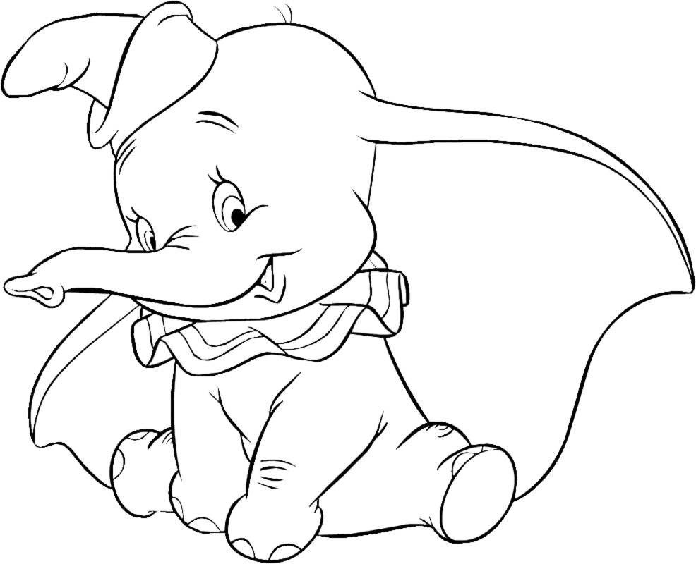 dumbo coloring pages 01
