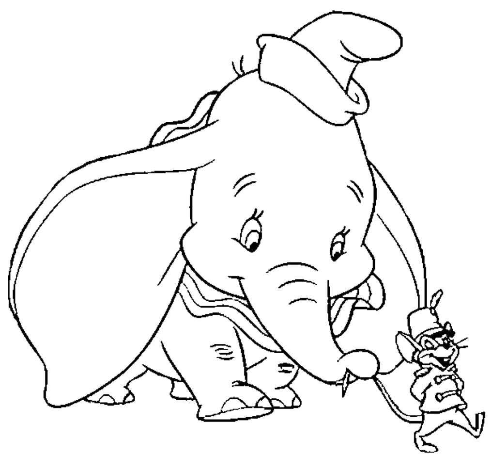 Dumbo coloring pages only coloring pages for Dumbo the elephant coloring pages