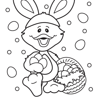 easter duck coloring pages