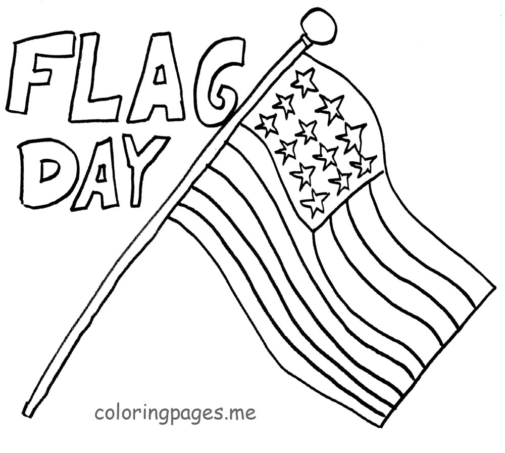 flag day coloring pages 01