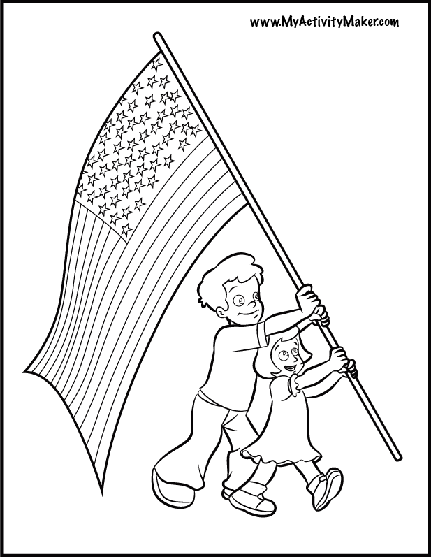 only coloring pages flag - photo#15
