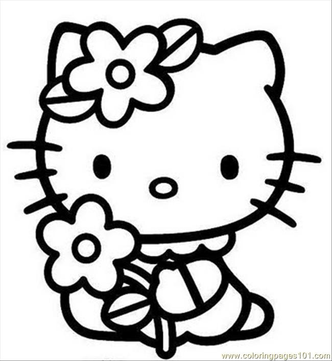 free hello kitty coloring sheets   Only Coloring Pages