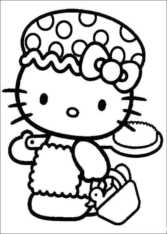 Free Hello Kitty Coloring Sheets Only Pages