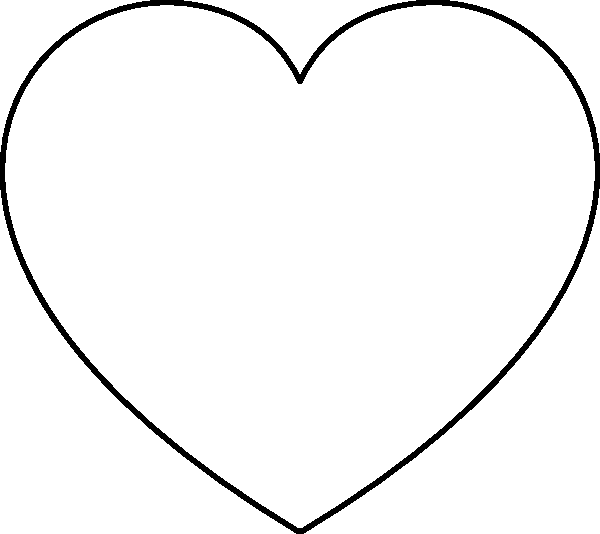 Heart coloring pages only coloring pages for Full page heart template