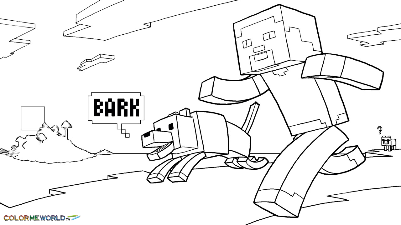 Minecraft Coloring Pages 01