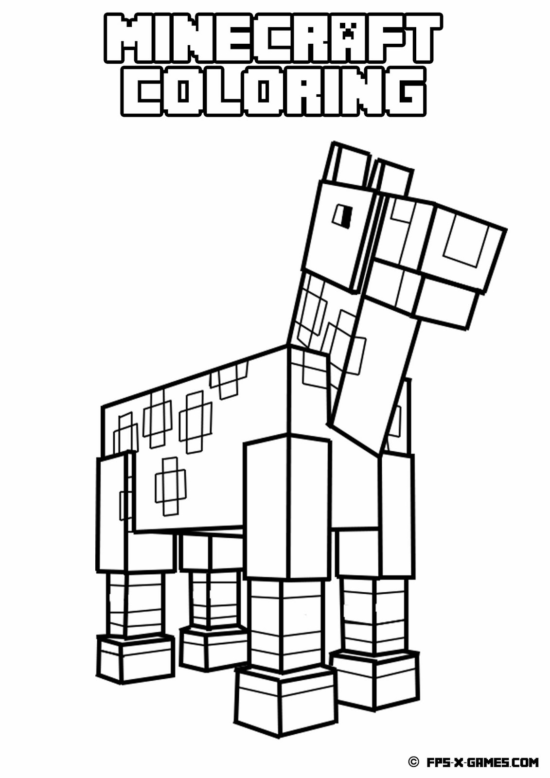 minecraft coloring pages Only