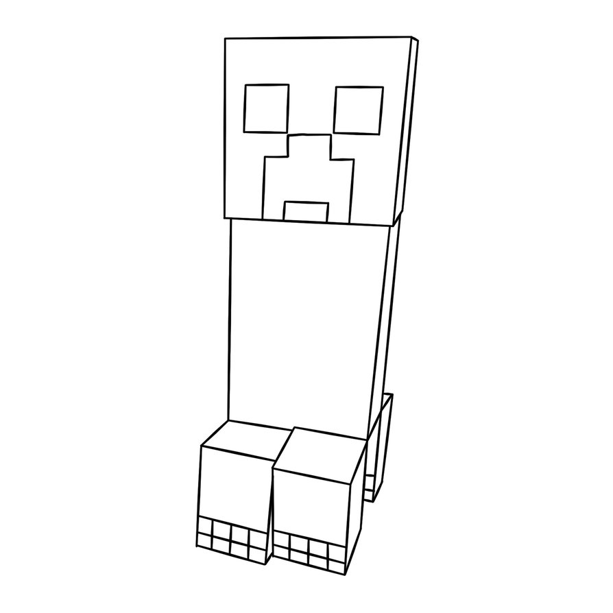 Minecraft coloring pages only coloring pages for Minecraft animal coloring pages