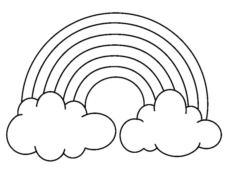 Rainbows coloring page only coloring pages for Coloring page rainbow