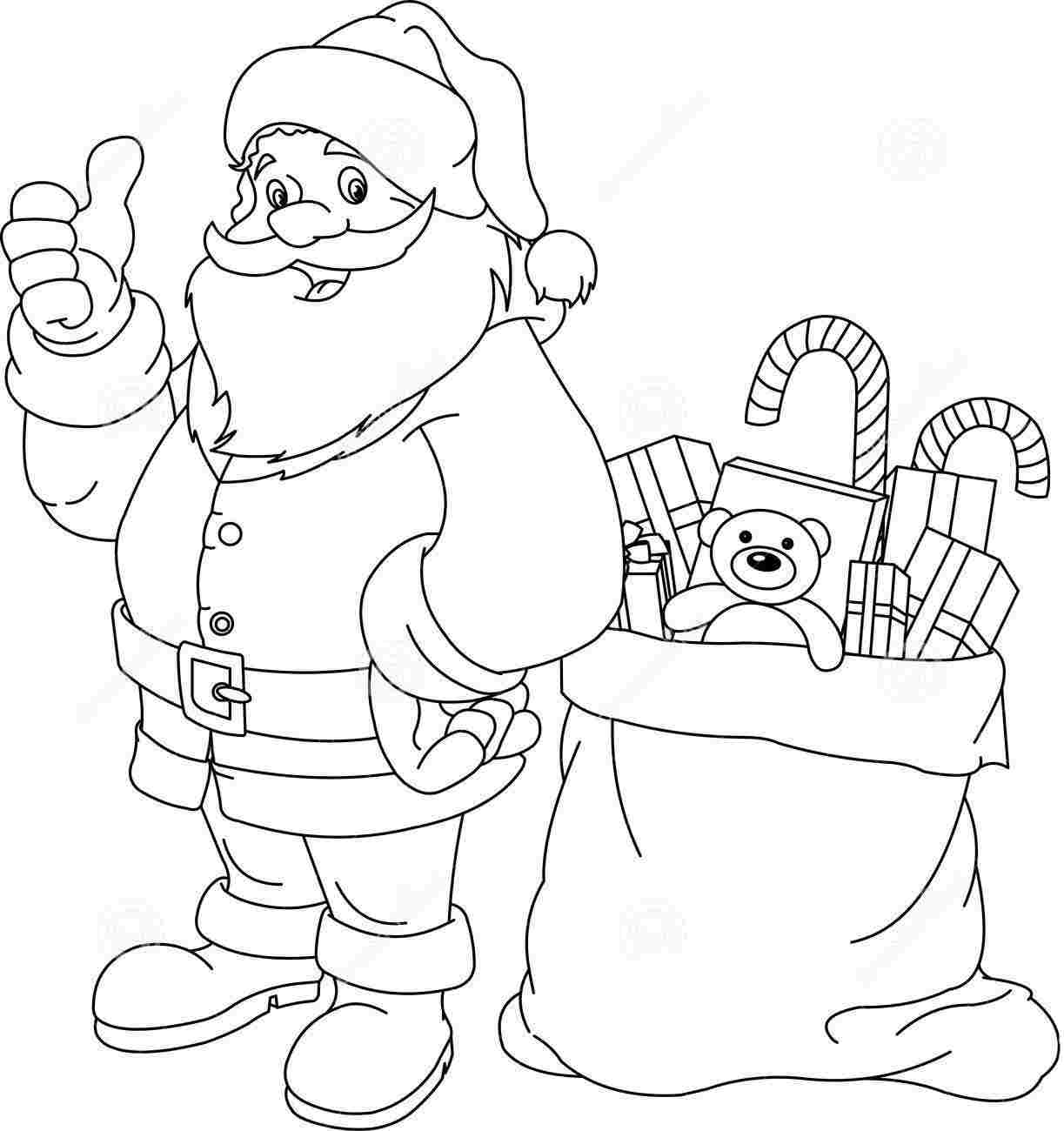 coloring pages with santa - photo#36