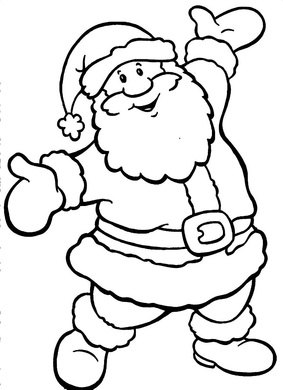 santa claus coloring pages Only