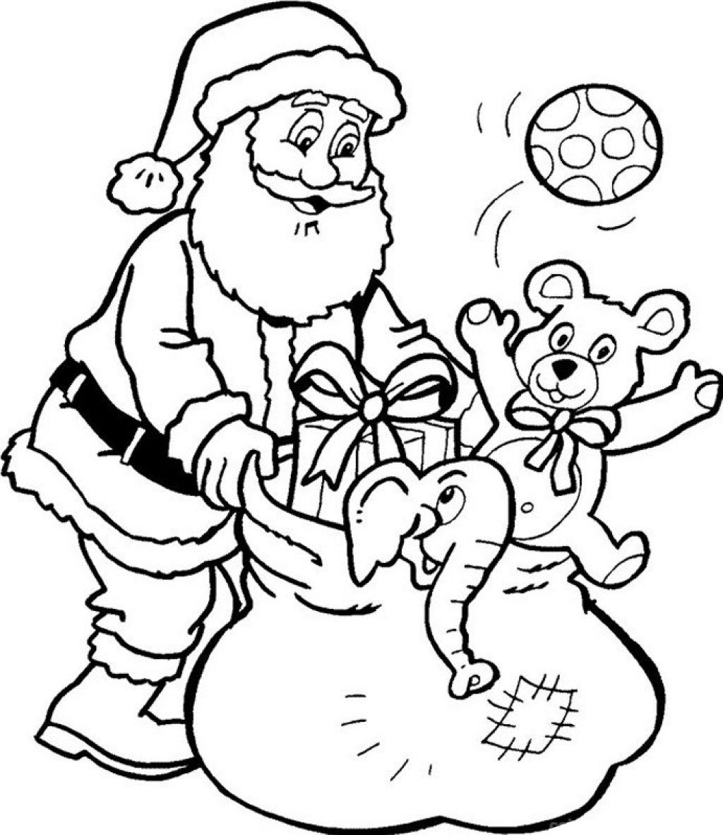 santa claus color page - santa claus coloring pages only coloring pages