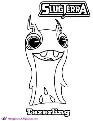 slugterra coloring pages tazerling ghoul - photo#1
