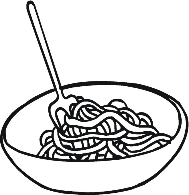 spaghetti coloring pages