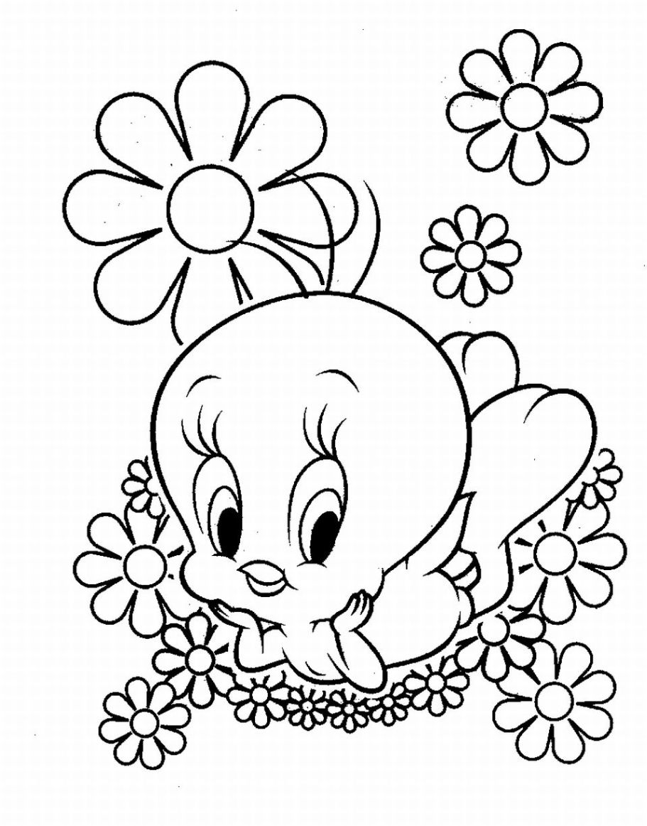 Tweety Bird Coloring Pages Only
