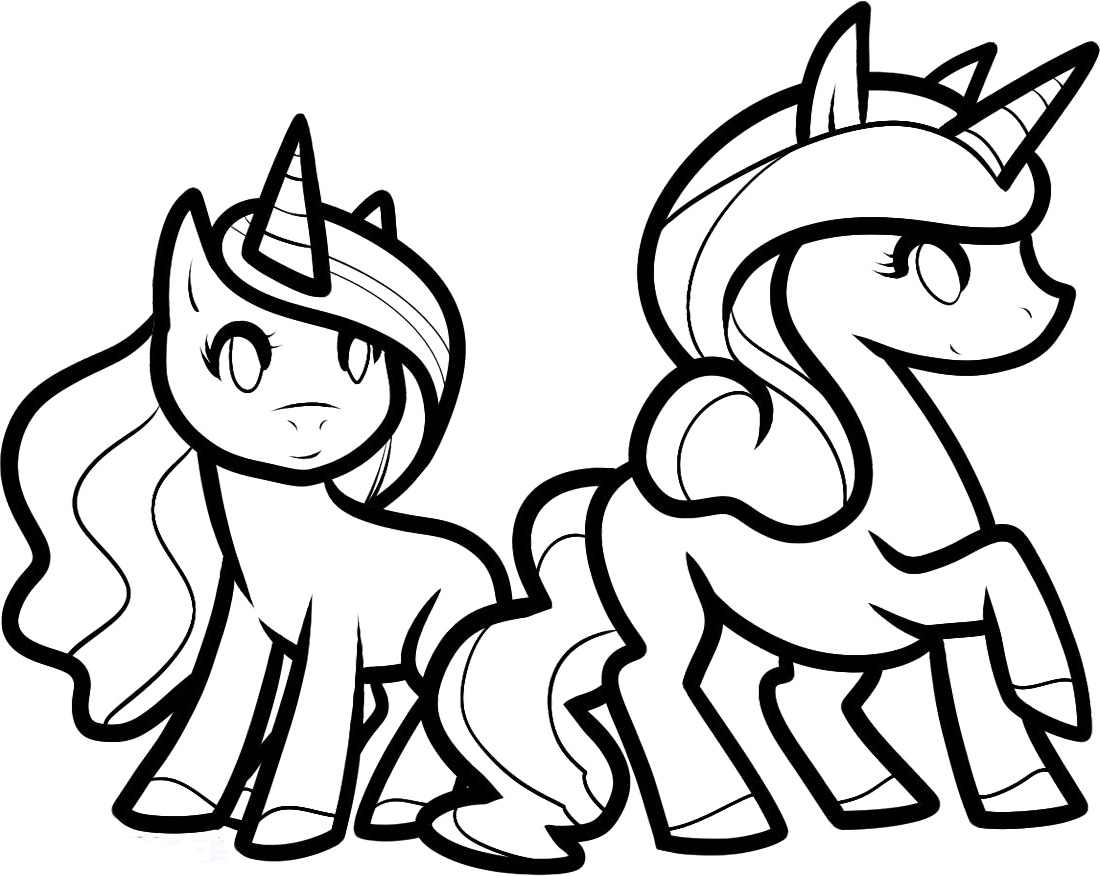 Coloring Pages For Unicorns : Unicorn coloring pages only
