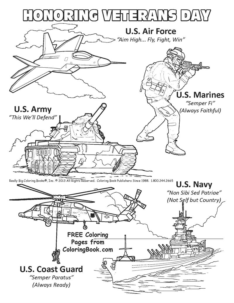 Veterans Day Coloring Pages 01