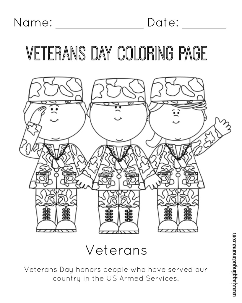 Coloring Pages For Veterans Day Printables : Veterans day coloring pages only