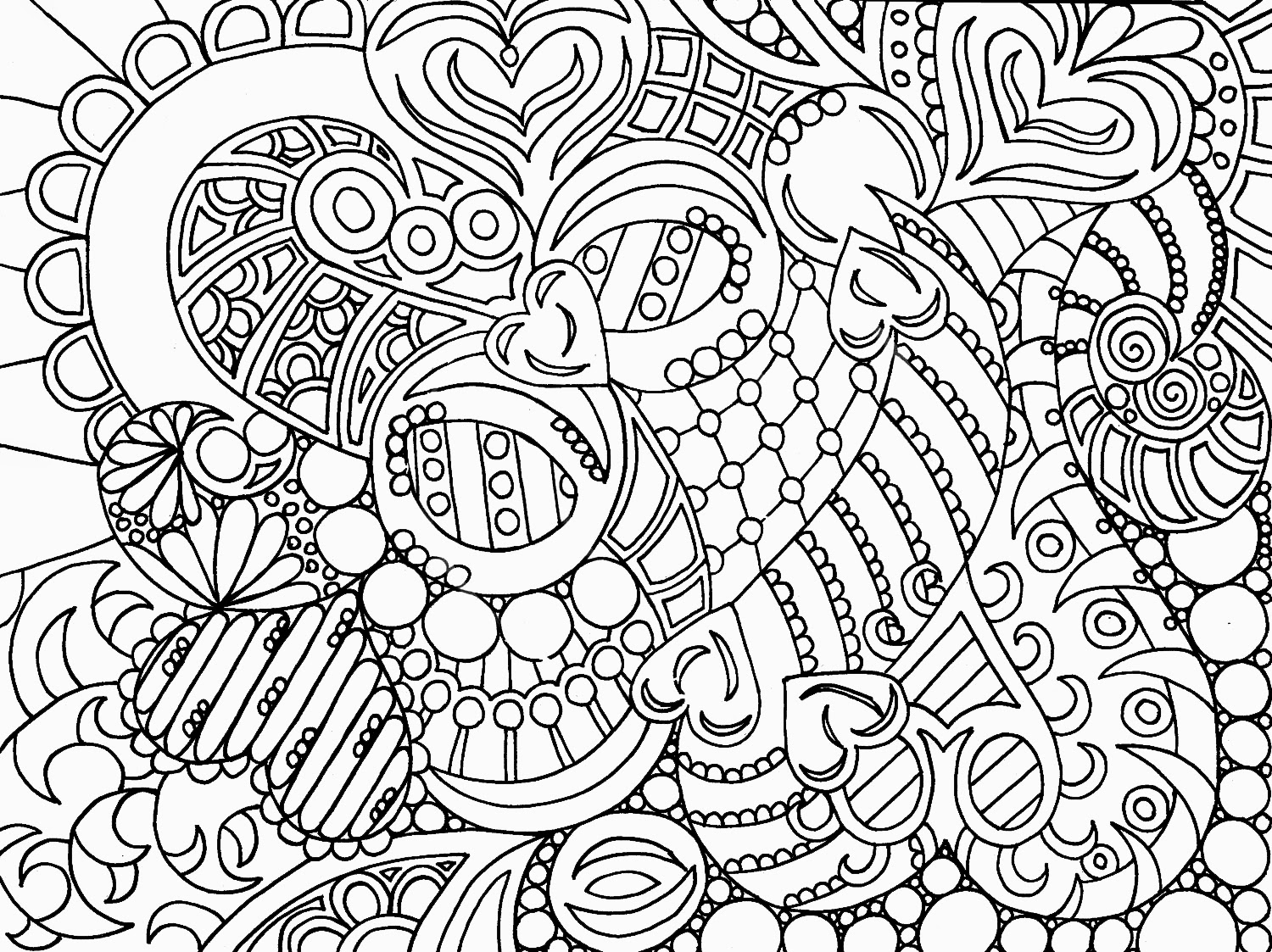 Abstract coloring pages coloring pages for Adult color page