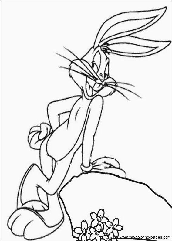 Bugs bunny coloring pages free printable online bugs for Free printable bugs bunny coloring pages