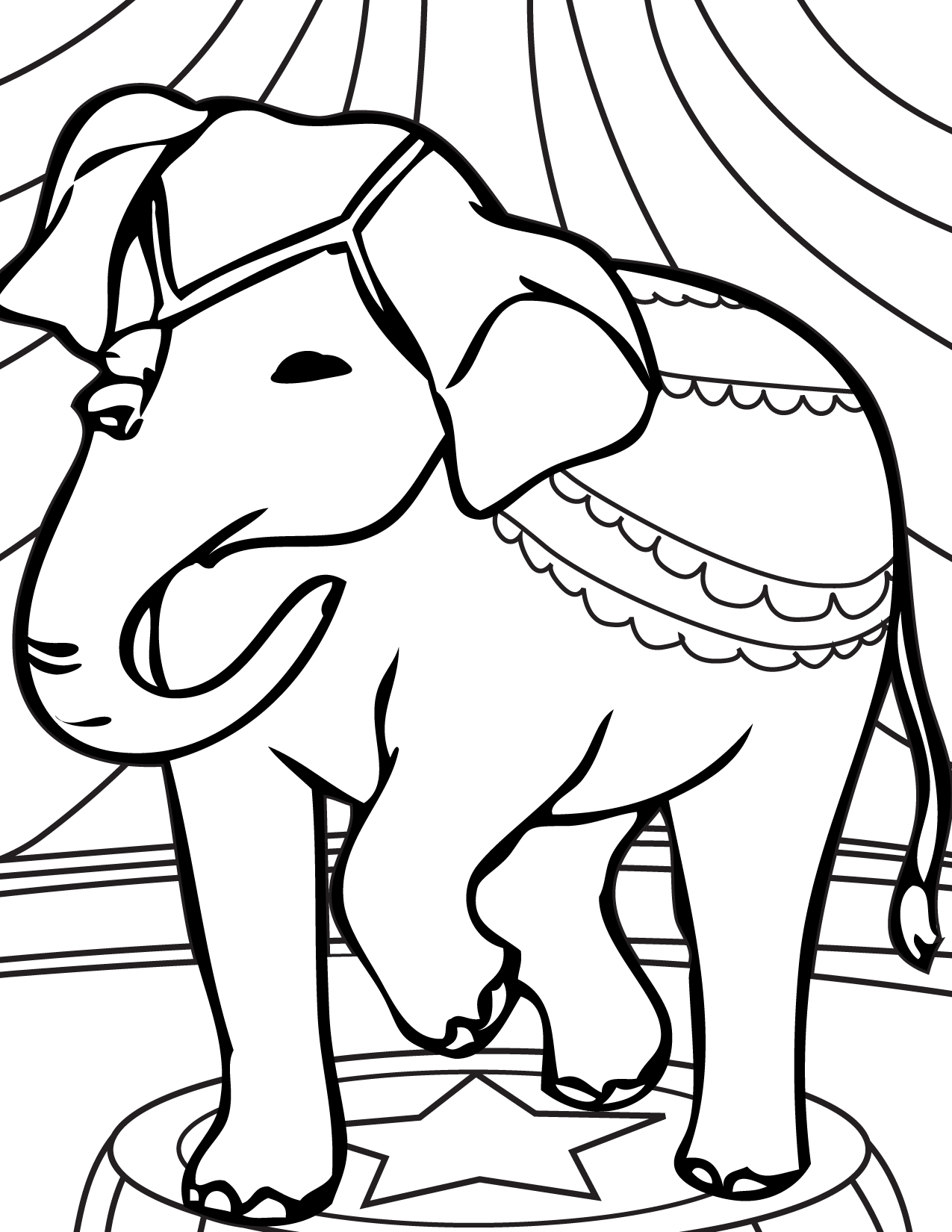 Circus elephant coloring pages only coloring pages for Printable circus coloring pages