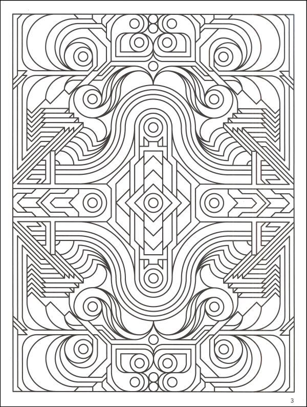 complex geometric coloring pages