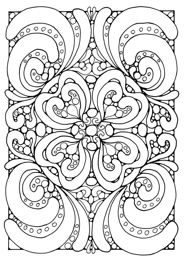 complex geometric coloring pages printable - photo#7