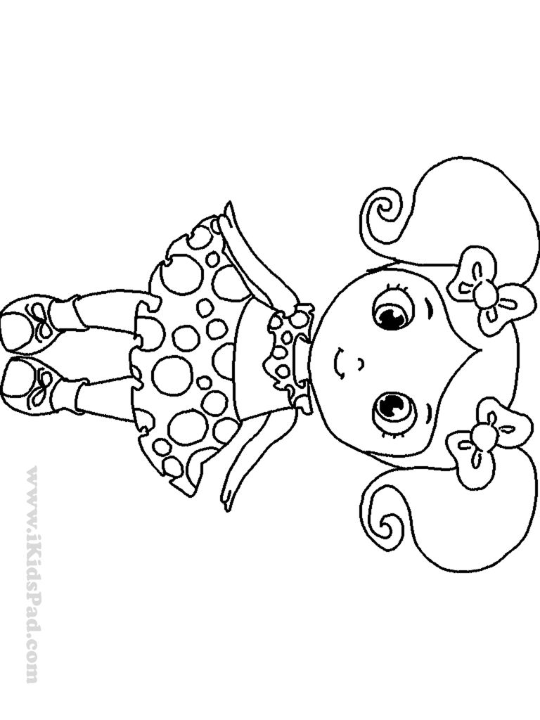 cute little girl coloring pages - photo#14