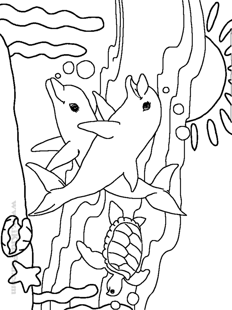 coloring pages of ocean animals - cute ocean animal coloring pages only coloring pages