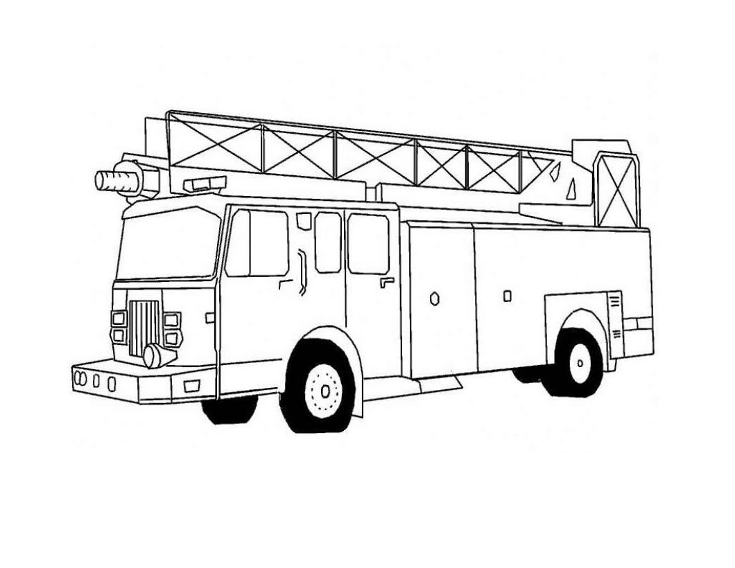Fire Truck Coloring Pages 01