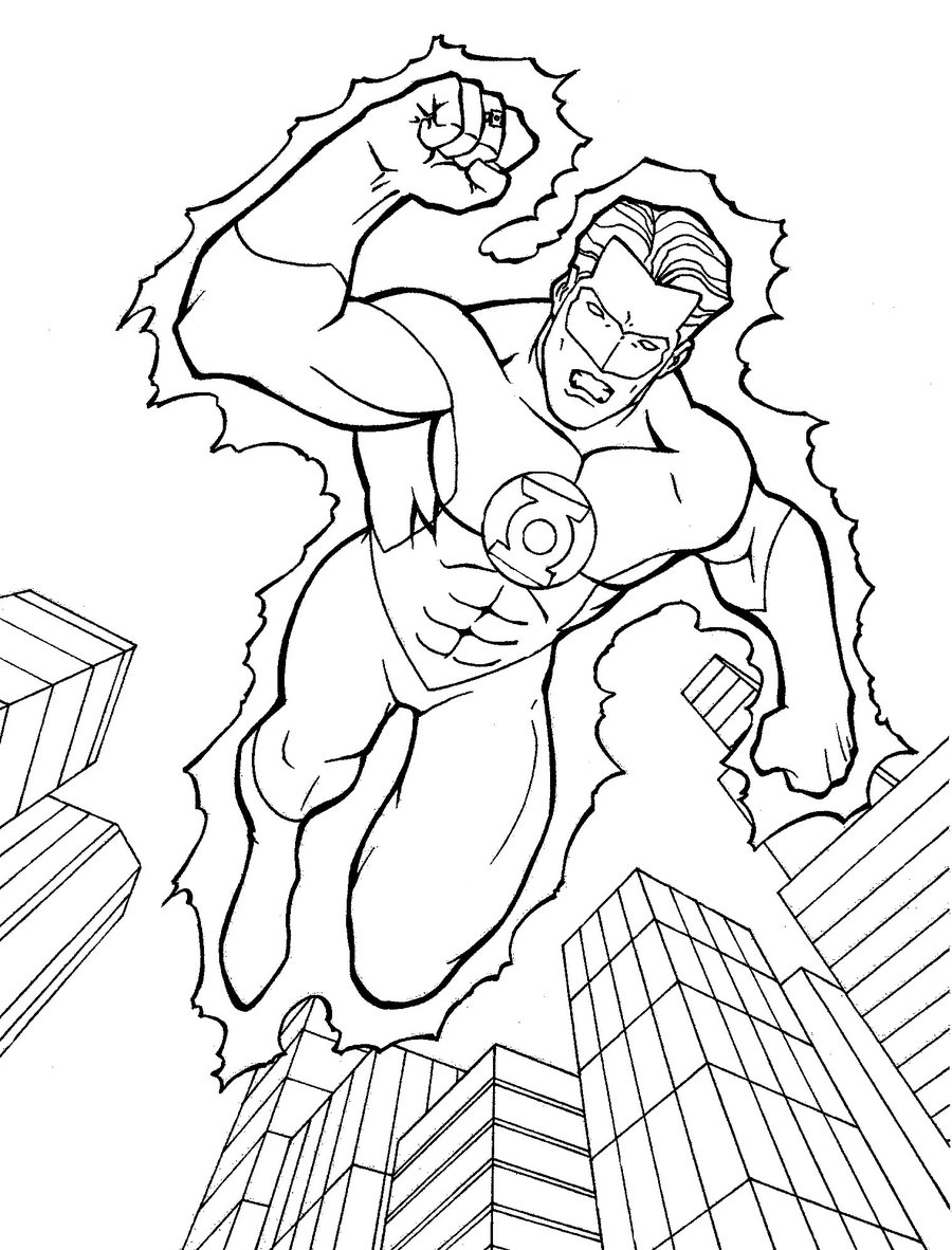 green lantern coloring pages 01