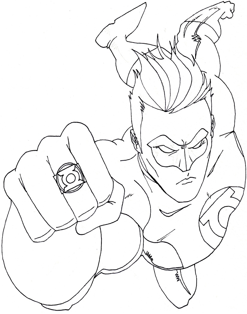 Green Lantern Coloring Pages Only Coloring Pages Green Coloring Pages