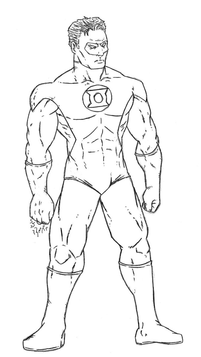 Green lantern coloring pages only coloring pages for Green lantern coloring page