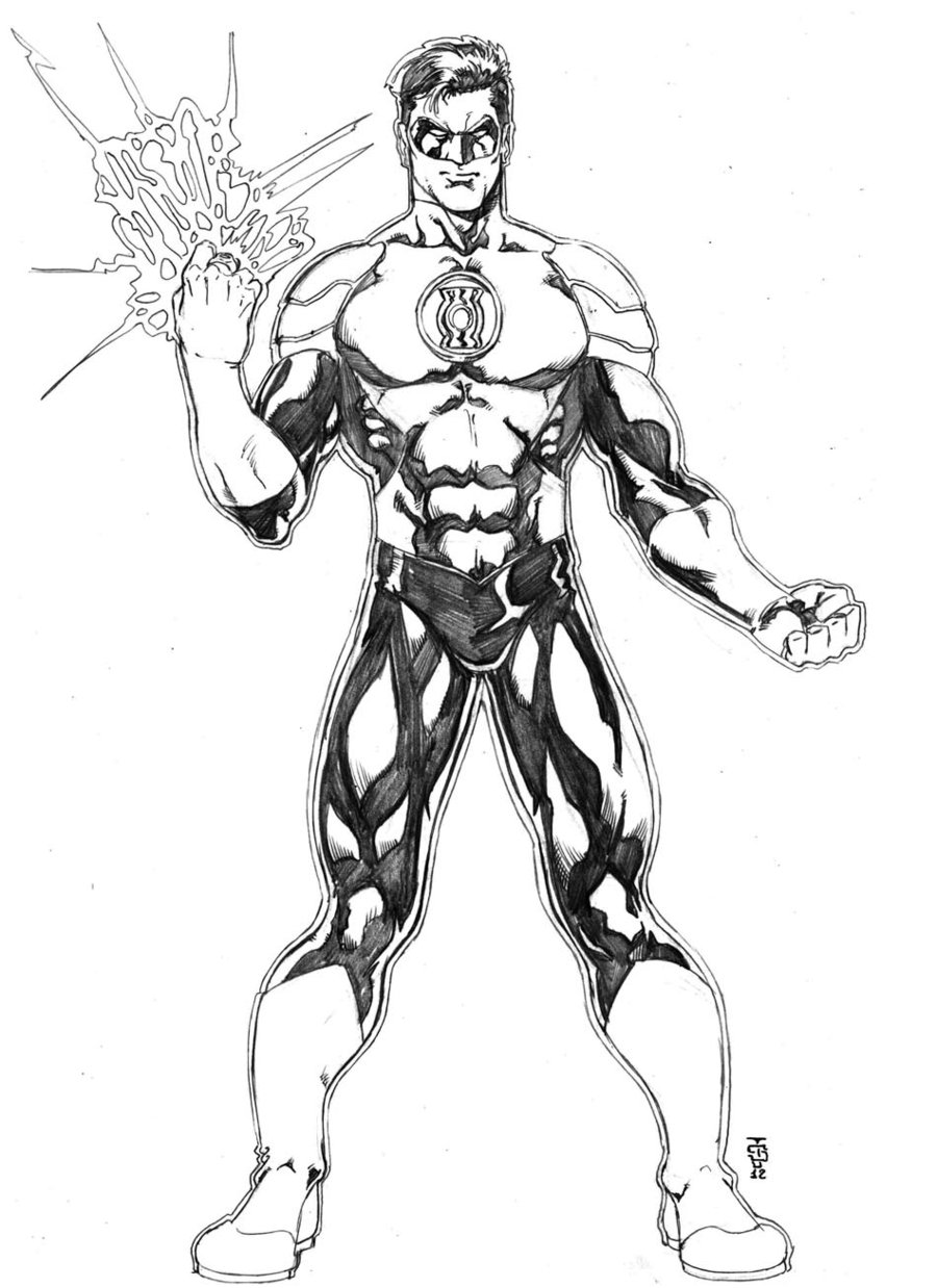 green lantern coloring pages | Only Coloring Pages