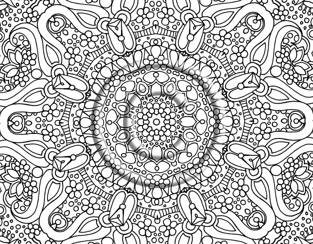 hard coloring pages for adults - photo#9
