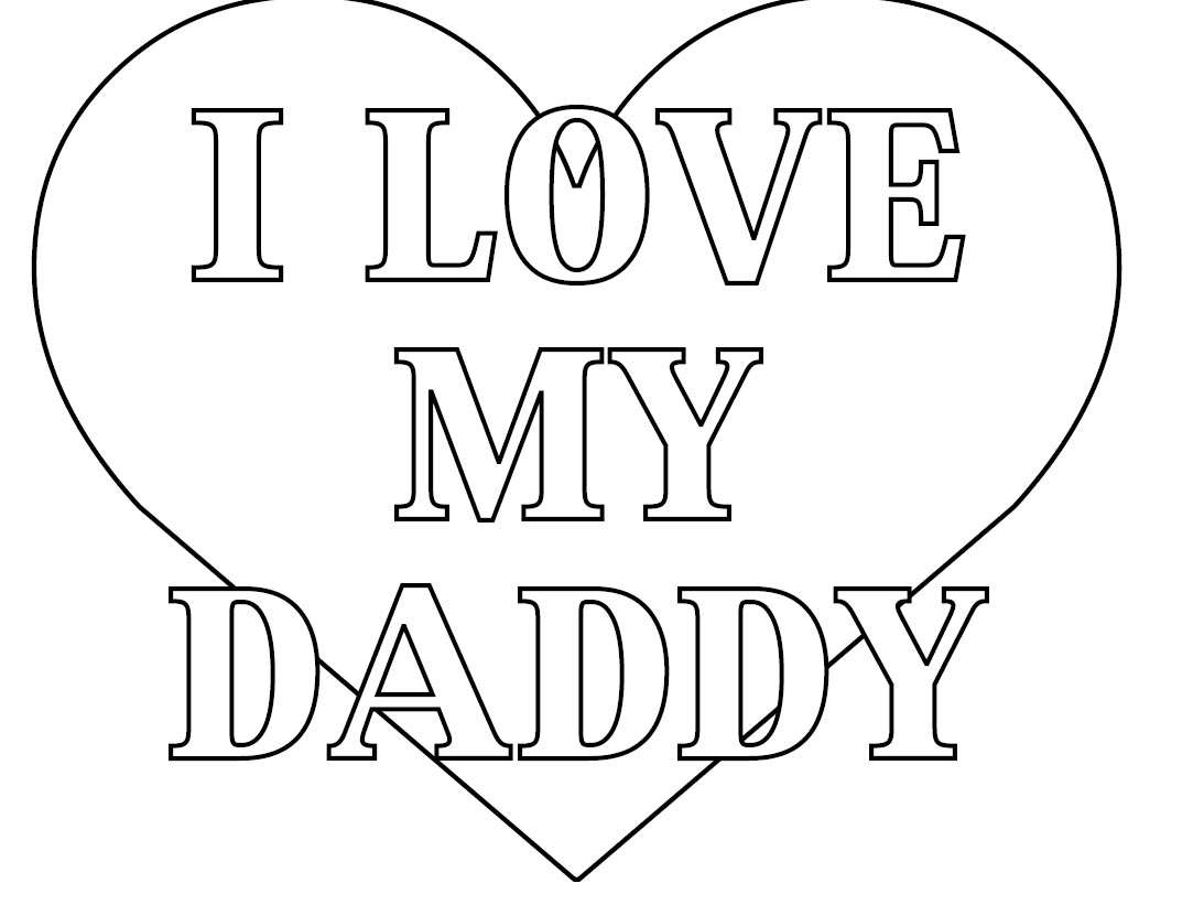 i heart dad coloring page 01