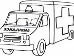 lego ambulance coloring pages