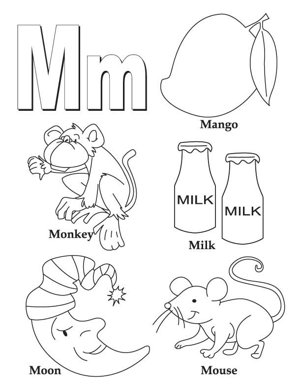 Letter M Coloring Pages 01
