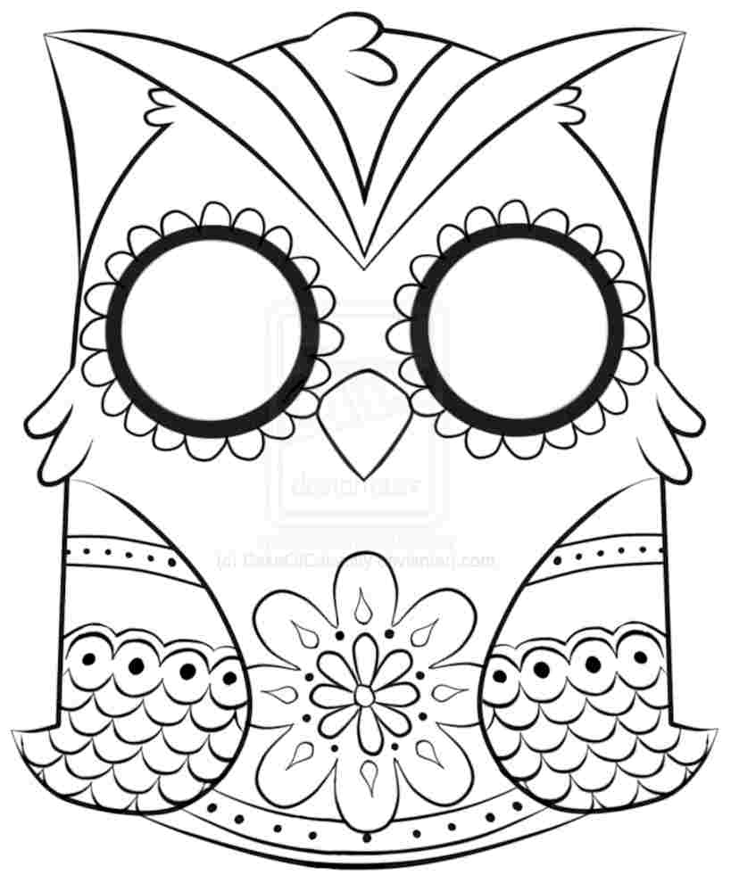 Full Page Owl Coloring Pages
