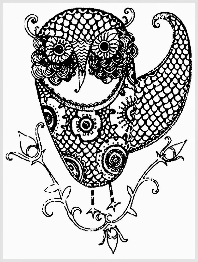 Owl coloring pages for adults only coloring pages for Printable owl coloring pages