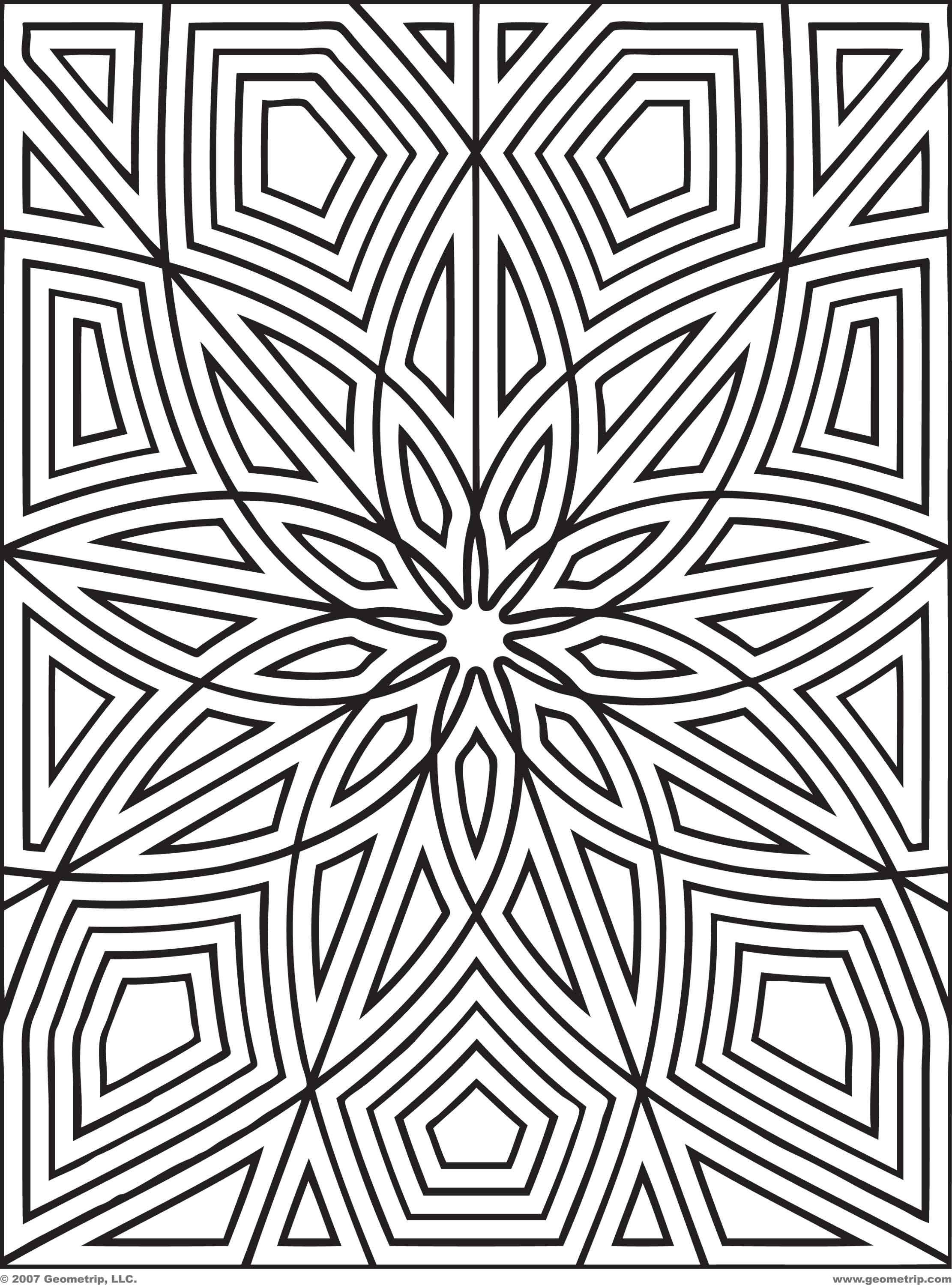 Pattern Coloring Pages 01