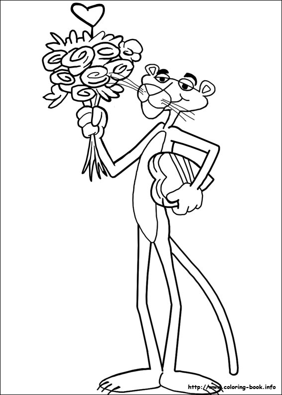 pink panther coloring pages 01