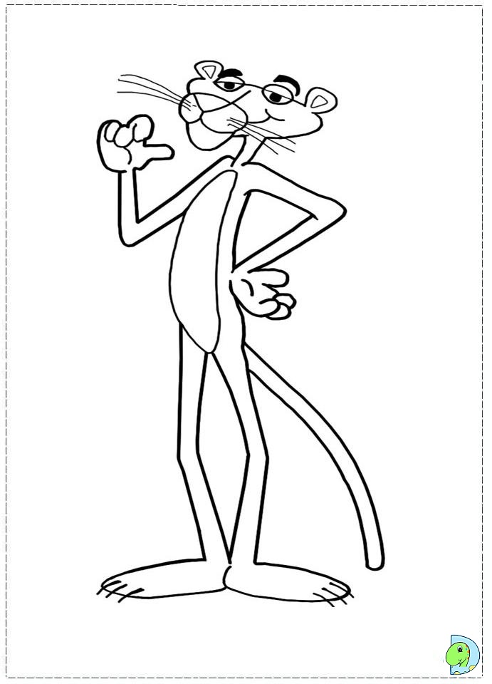 Pink panther coloring pages only coloring pages for Panther coloring page