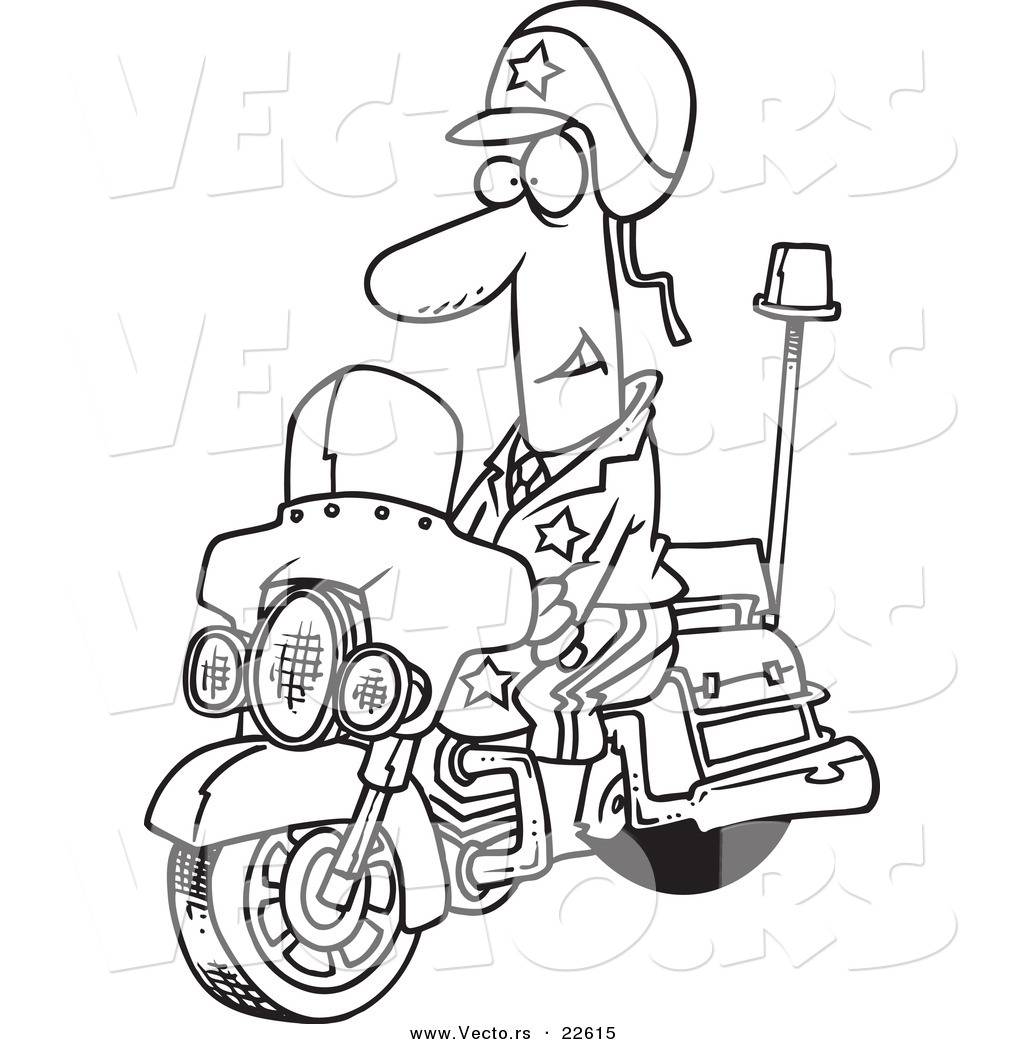 Free Coloring Pages Of Police Motorcycle
