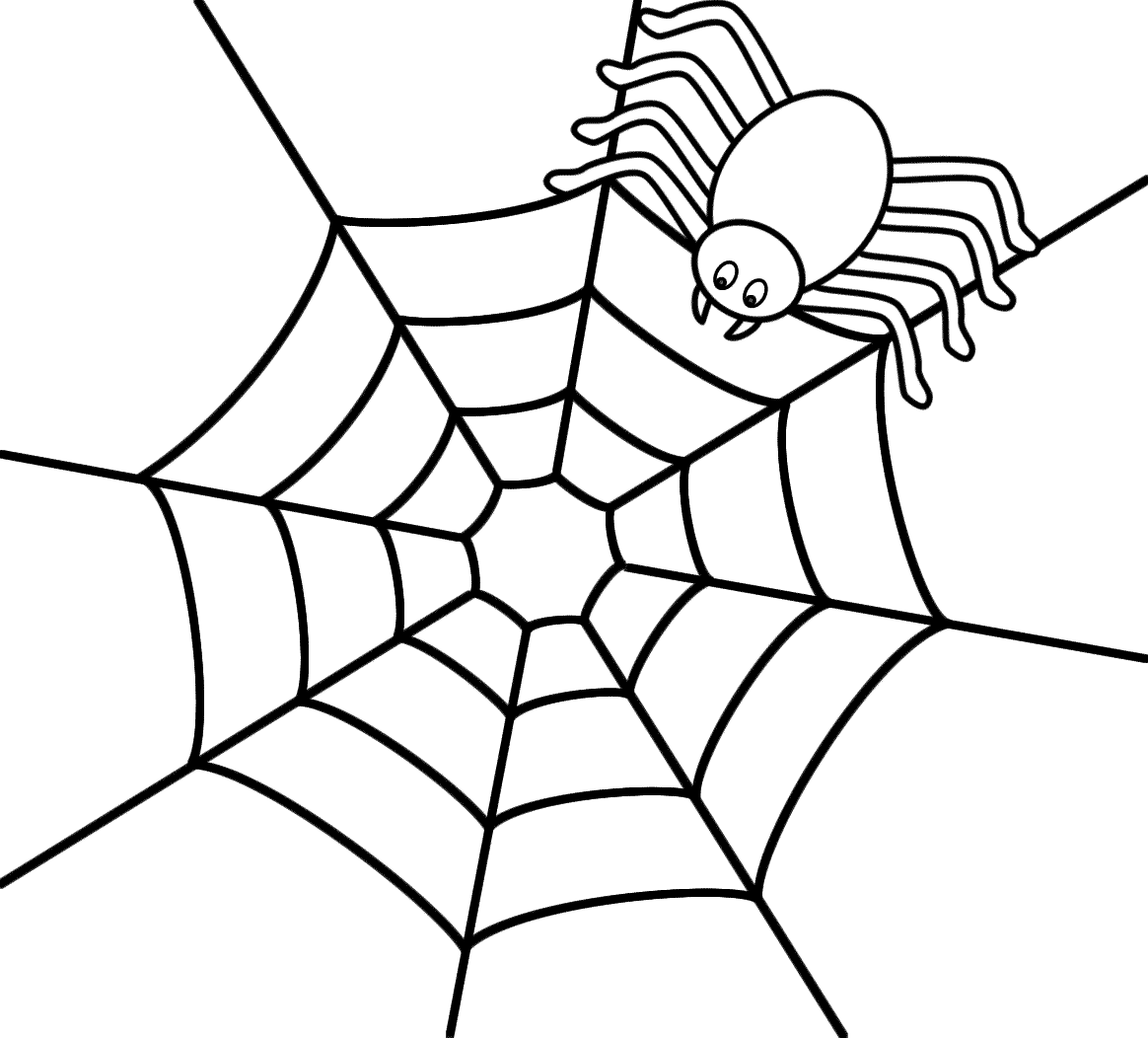 spider web coloring pages for kids 01