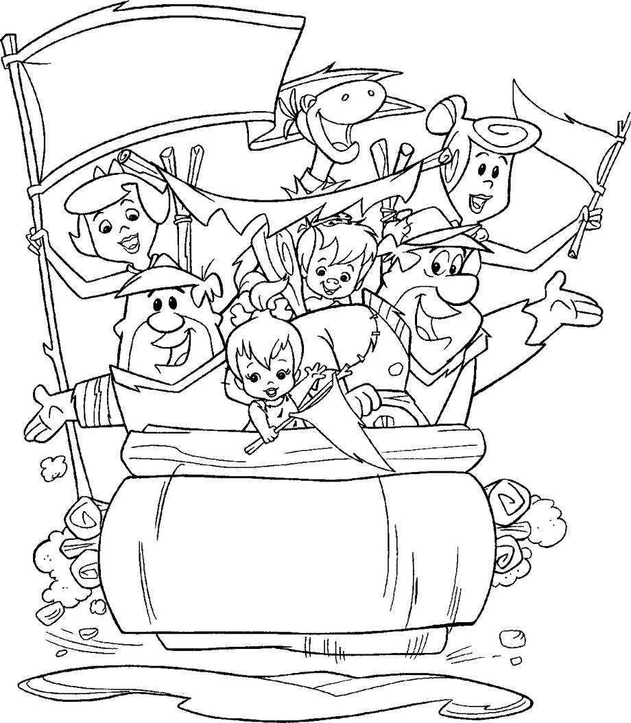 The Flintstones Coloring Pages 01